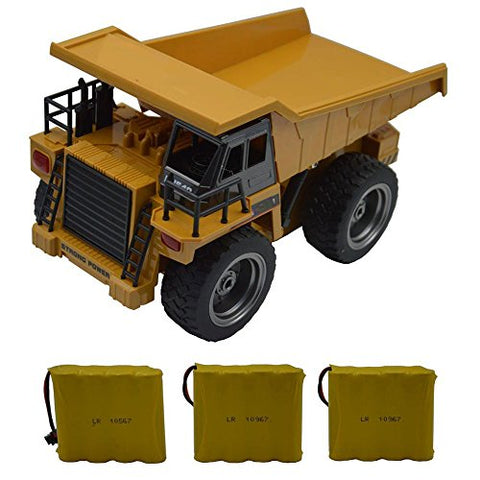 Blomiky 1:18 540 11  6Ch 2.4G Remote Control Dump Truck 4 Wheel Driver Mine Engineer Construction Vehicle Toy Extra 2 Battery 1540 Dump Car