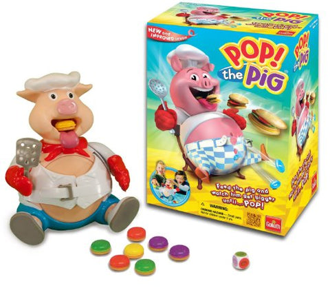 Pop the Pig Game  New and Improved  Belly-Busting Fun as You Feed Him Burgers and Watch His Belly Grow