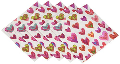 Entertaining With Caspari Happy Hearts Cocktail Napkins