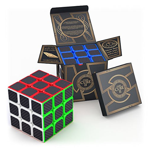 aGreatLife Carbon Fiber Sticker Speed Cube: Easter Basket Stuffers 3x3x3 Cube Puzzle to Expand Your Mind With Hours of Logical Fun - Easily Twist With Superior Cornering - Hand-Held Games That Educate