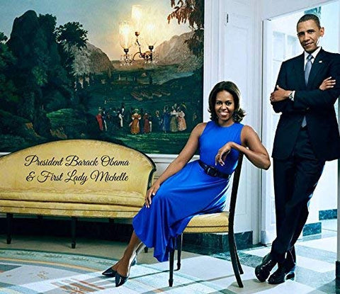 "President Obama & First Lady Michelle - In The White House - Poster (12"" X 10"")"
