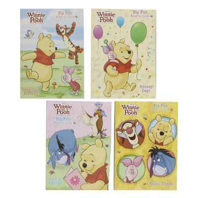 4pk Disney's Winnie the Pooh Coloring Book 96 Page Each - Assorted