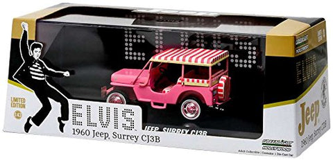 1960 Jeep Surrey CJ3B  Pink Jeep  Elvis Presley (1935-1977) 1/43 by Greenlight 86472