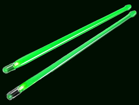Performance Plus Impact Activated Green Led Light-Up Clear Acrylic Drumsticks Batteries Included (Pfx12Gr)