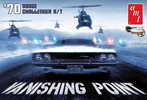 #942 AMT '70 Dodge Challenger R/T, Vanishing POint 1/25 Scale Plastic Model Kit, Needs Assembly