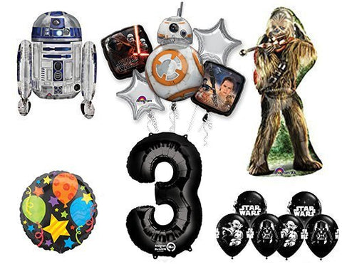 The Ultimate Star Wars 3rd Birthday Party Supplies and Balloon decorations