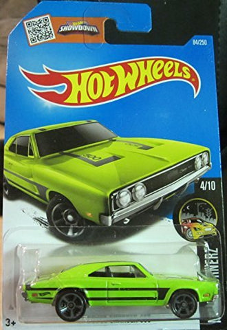 Hot Wheels 2016 Night Burnerz '69 Dodge Charger 500 84/250, Neon Green