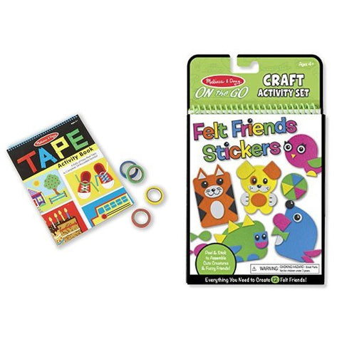 Melissa & Doug Tape Activity Book & Felt Stickers Bundle