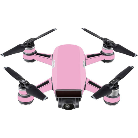 Mightyskins Skin Compatible With Dji Spark Mini - Solid Pink | Protective, Durable, And Unique Vinyl Decal Wrap Cover | Easy To Apply, Remove, And Change Styles | Made In The Usa
