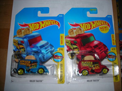 Hot Wheels 2017 Legends of Speed Roller Toaster 4/10, Set of 2, Red & Blue variations