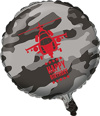 Creative Converting Operation Camo Metallic Balloon, Gray