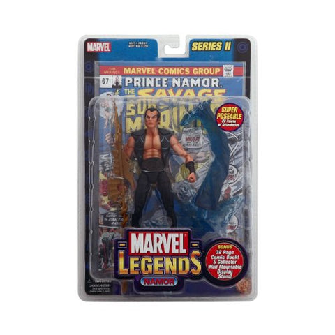 Marvel Legends 6  Action Figure Series 2 : NAMOR with Bonus 32 page Comic Book and Collector Wall Mountable Display Stand