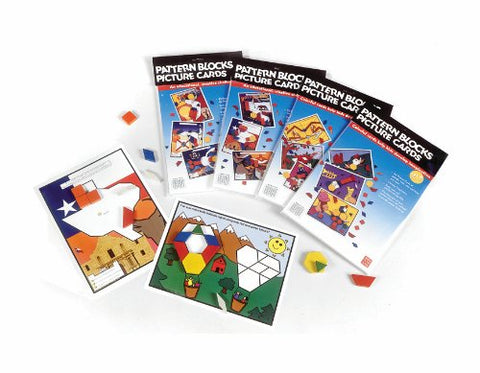 American Educational Pattern Block Picture Cards Set, Set A (24 Piece Set)