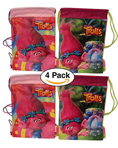 - Trolls Dreamworks Drawstring Bag | Backpack for Party Favors | Goodie bags, 2 different designs assorted. designs may vary