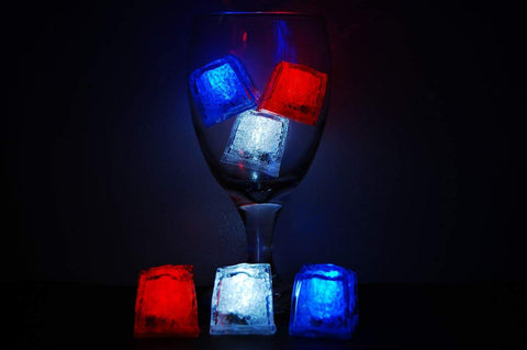 Litecubes Brand 3 Mode Jewel Color Tinted American Theme Led Light Up Ice Cubes-
