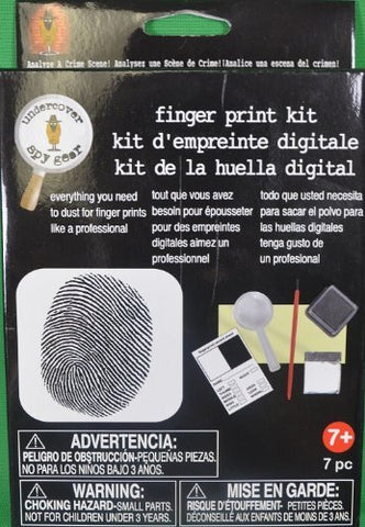 Kids Detective Finger Print Kit Crime Mystery Solving 7 Piece Set