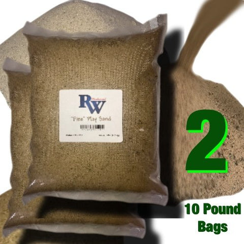 "Rock Wood ""Fine"" Play Sand - 10 Pound Bags Of Natural Play Sand - Two Pack"