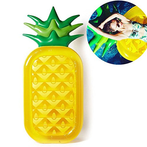 Bocks Inflatable Pool Float, Pineapple Float Raft Party, Floatie Lounge Pool Loungers Decorations Toys, Summer Outdoor Swimming Pool Toys For Kids and Adults