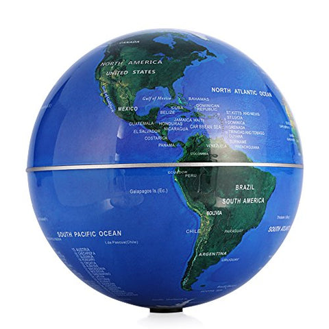 Self Rotating Globe, 6  Auto-Spinning Rotary Globe Revolving World Earth Map Sphere Novelty Gift Home Office Decoration Kids Educational