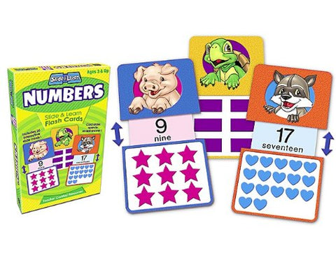 Teacher Created Resources Numbers Slide & Learn Flash Cards (6554)