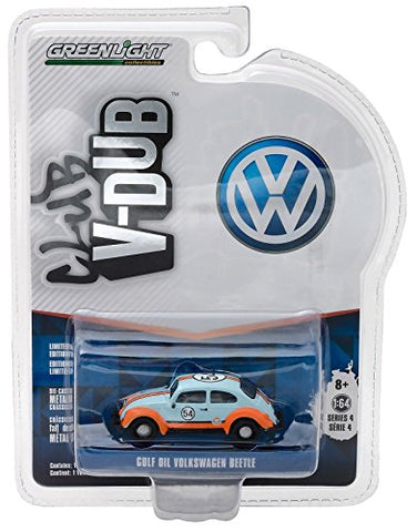 New 1:64 CLUB V-DUB SERIES 4 ASSORTMENT - MULTI CLASSIC VOLKSWAGEN BEETLE - GULF OIL RACER Diecast Model Car By Greenlight