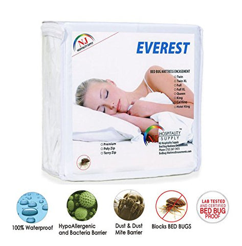 ! Everest Premium Plus Mattress 100% Waterproof Bed Bug Proof Hypoallergenic Premium Zippered Six Sided Cover Encasement Machine Washable Many Sizes (Sofa 5 , Sofa Queen Size 60X72+5 )