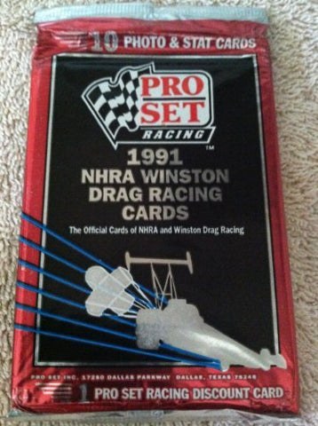 Pro Set 1991 NHRA Winston Drag Racing Cards Pack