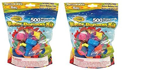 Water Sports 500, water balloons with Refill Kits of latex water bomb, Summer Water Fight Sports Fun Party Favors for Kids & Adults(1000 count)