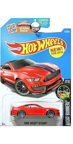 Hot Wheels 2016 Night Burnerz Ford Shelby GT350R 87/250, Red