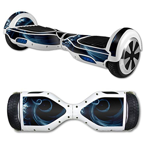Mightyskins Skin Compatible With Hover Board Self Balancing Scooter Mini 2 Wheel X1 Razor Wrap Cover Sticker Stone Waves
