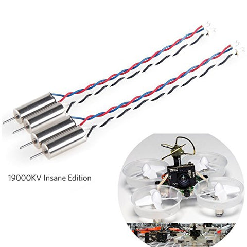 Crazepony 4pcs 6x15mm Motor (Speed: Insane) 19000KV for Blade Inductrix Tiny Whoop Micro JST 1.25 Plug with Rubber Rings