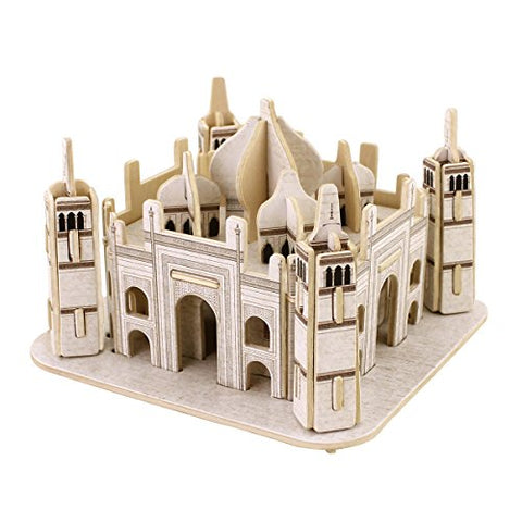ROBOTIME 3D Wooden Puzzle Mini Building Model Taj Mahal Woodcraft DIY Toy Kit for Children
