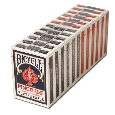 Plastic Coated Paper - 12 Blue Decks Bicycle Pinochle Cards