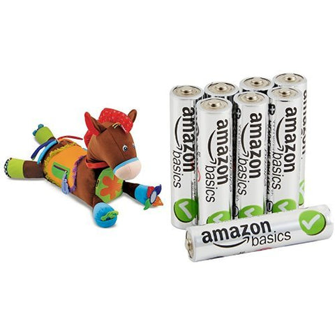Melissa & Doug Giddy-Up and Play Activity Toy with AmazonBasics AAA Batteries Bundle
