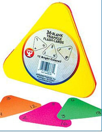 HYG46636 - TRIANGLE FLASH CARDS 5 1/2 12 COLOR