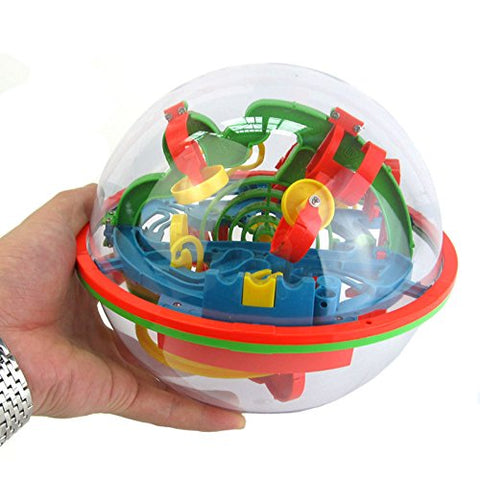 Villexun Intellect 3D UFO Maze Ball,Intellect 3D Maze Ball with 100 Challenging Barriers,Amaze Maze Puzzle Game