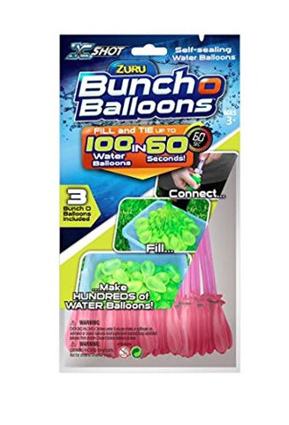Bunch O Balloons  Instant Water Balloons  Pink (3 bunches  100 Total Water Balloons)