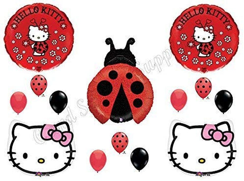 Hello Kitty Ladybug Birthday Party Balloons Decorations Supplies Girl