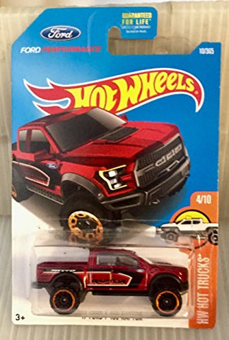 Hot Wheels 2017 HW Hot Trucks '17 Ford F-150 Raptor 10/365, Maroon