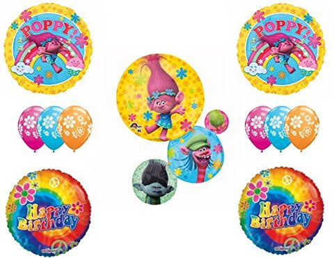Trolls Movie Happy Birthday Party Balloons Decoration Supplies
