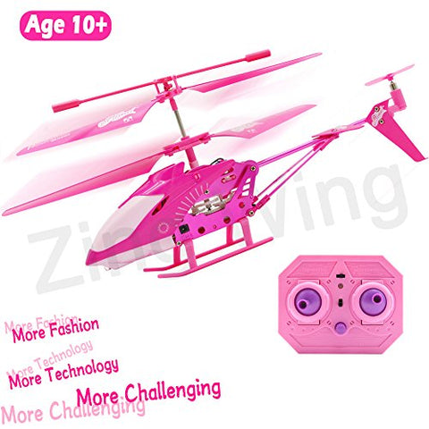 10 Year Old Girl Gifts, Pink Remote Control Helicopter Airplane Hoverboard Toy Box for Girls Kids Indoor Mini Rc 3.5 Channel Remote Radio Gyro Control Helicopter Toy Birthday Holiday Gifts