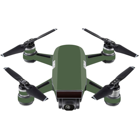 Mightyskins Skin Compatible With Dji Spark Mini - Solid Olive | Protective, Durable, And Unique Vinyl Decal Wrap Cover | Easy To Apply, Remove, And Change Styles | Made In The Usa