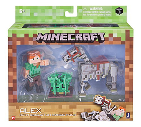 Minecraft Alex with Skeleton Horse Pack