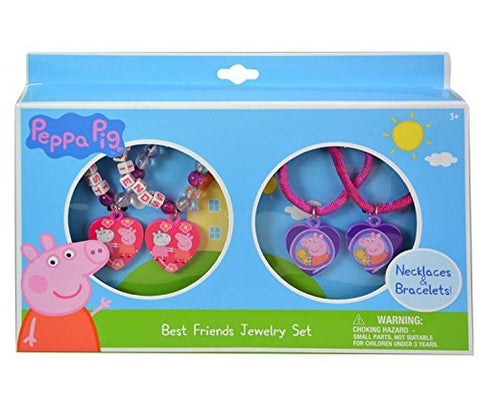 Limited Peppa Pig Best Friends Jewelry Set-Necklaces & Bracelets