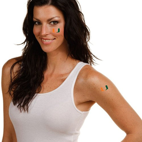 NCAA Miami Hurricanes Temporary Tattoos