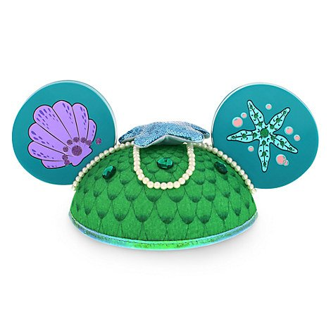 Disney Parks The Little Mermaid  Ariel  Mickey Mouse Ears Hat - Disney Parks Exclusive & Limited Availability