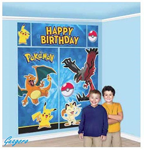 Pokemon Giant Birthday Scene Setter Wall Banner Pikachu Party Supply Favor Prize