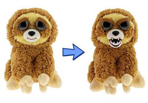 William Mark- Feisty Pets: Lightning Bolt Lenny- Adorable 8.5  Plush Stuffed Sloth That Turns Feisty With a Squeeze!