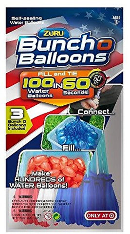 Bunch O Balloons, Red, White, and Blue (3 Bunches 100 Water Balloons)