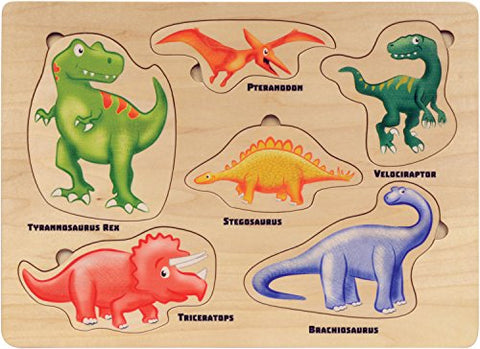Maple Landmark 42305 Lift And Learn Dinosaur Puzzle